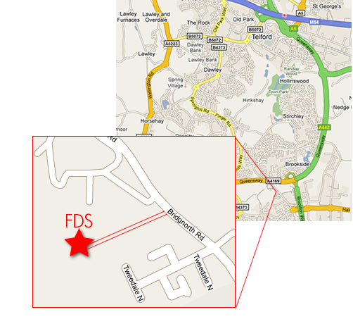 Map showing how to find fds